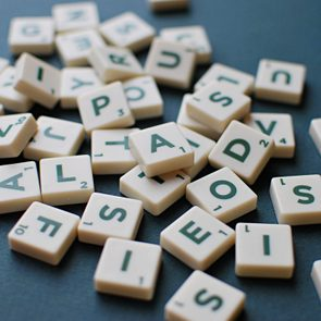 Scrabble game letters