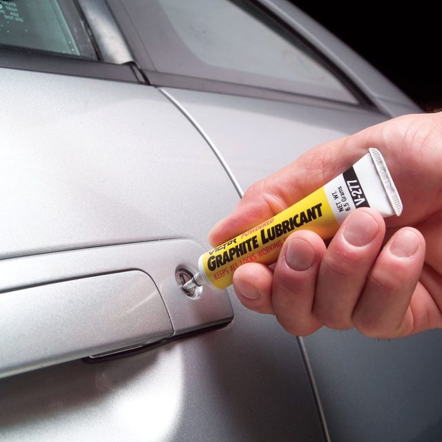 Add graphite to door locks
