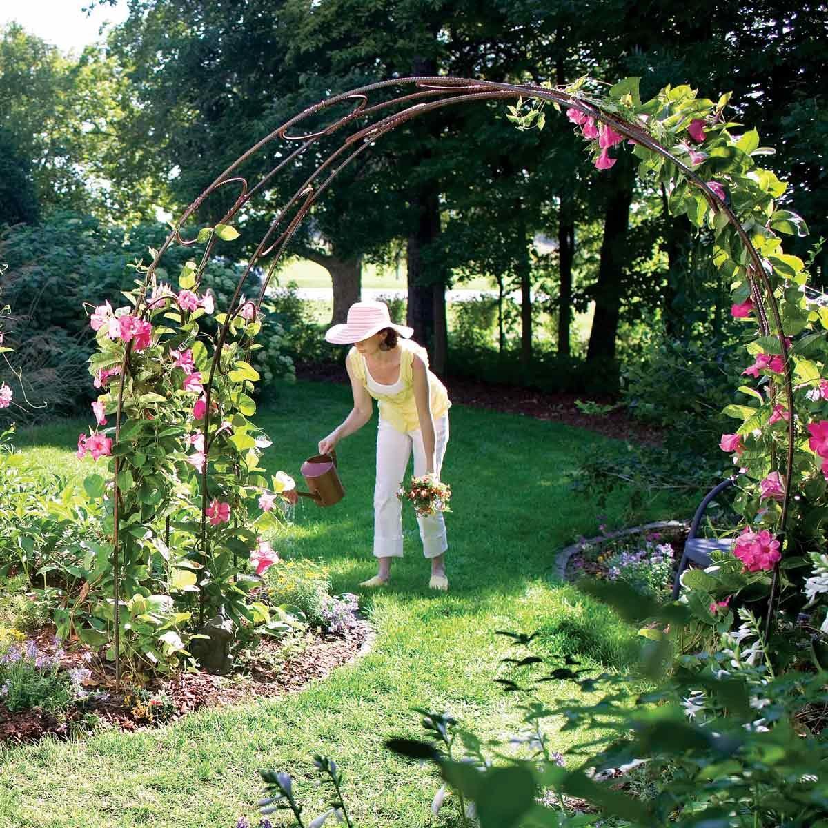 garden archway trellis rebar
