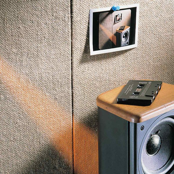 Cassettes and tall speakers
