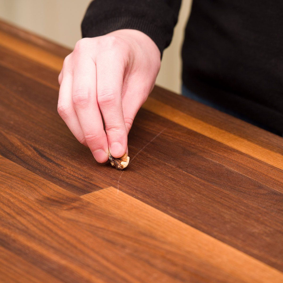 Spring cleaning tips - Walnut fixes scratched wood