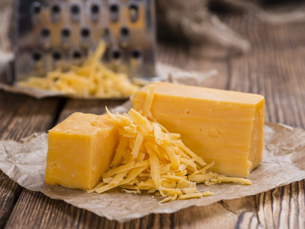 Freeze cheese (cheddar)
