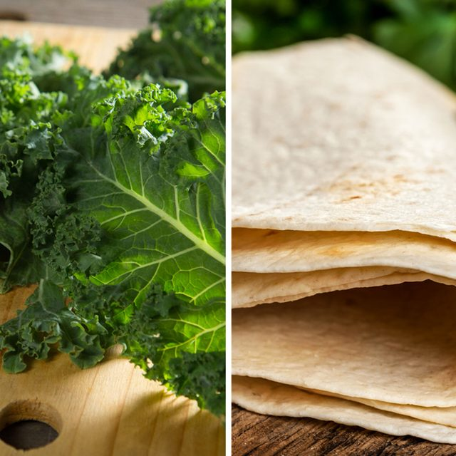 Kale Leaves for Tortillas