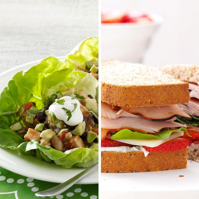 Lettuce Wraps for Sandwich Bread
