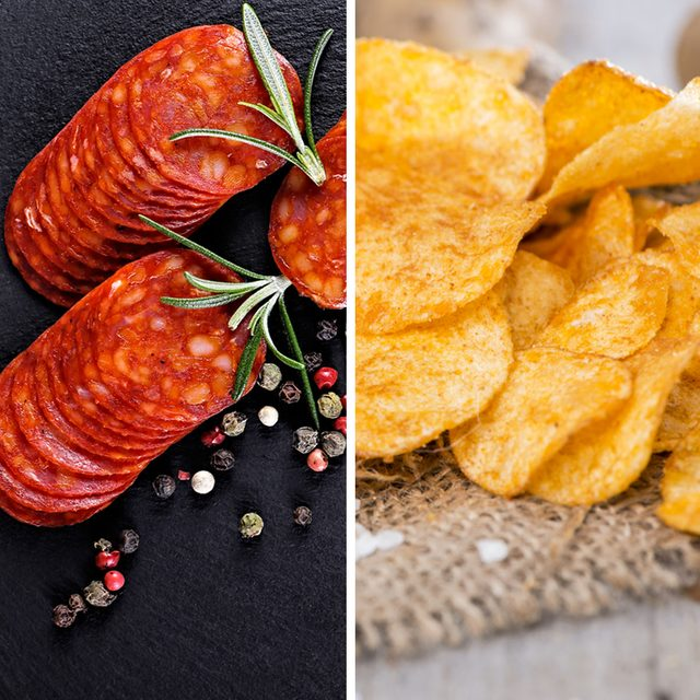 Baked Pepperoni for Chips