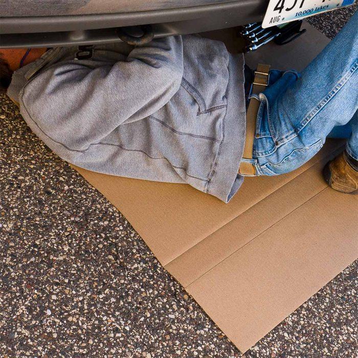 cardboard drop cloth