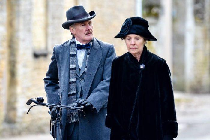 'Downton Abbey' on set filming, Bampton, Oxfordshire, Britain - 28 Feb 2013