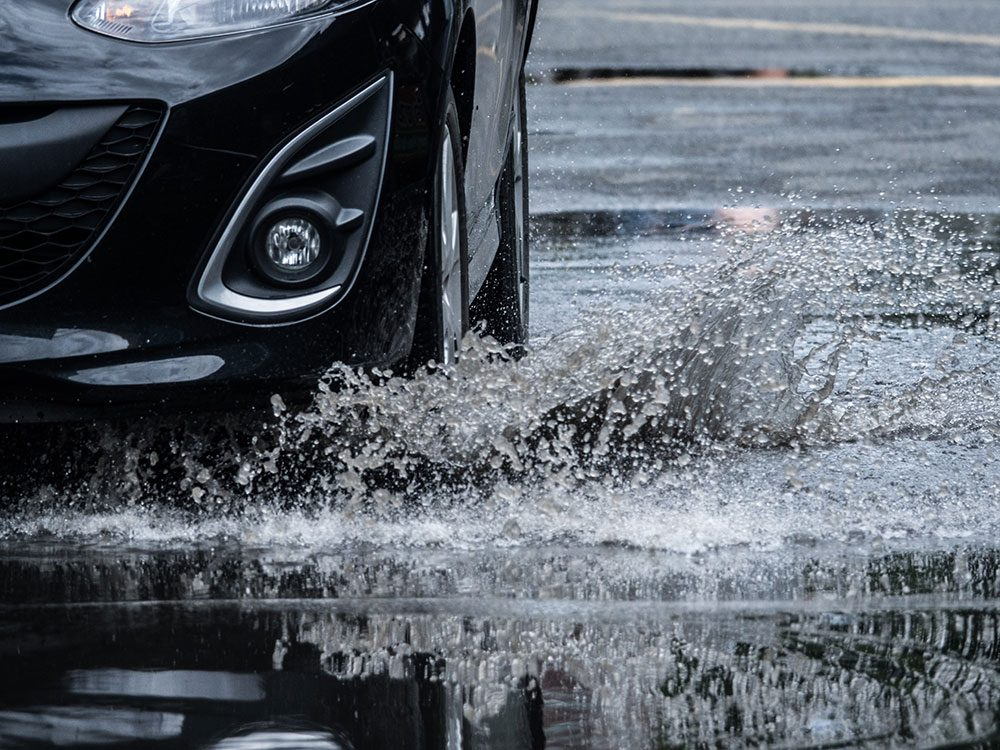 Driving tips - avoid puddles