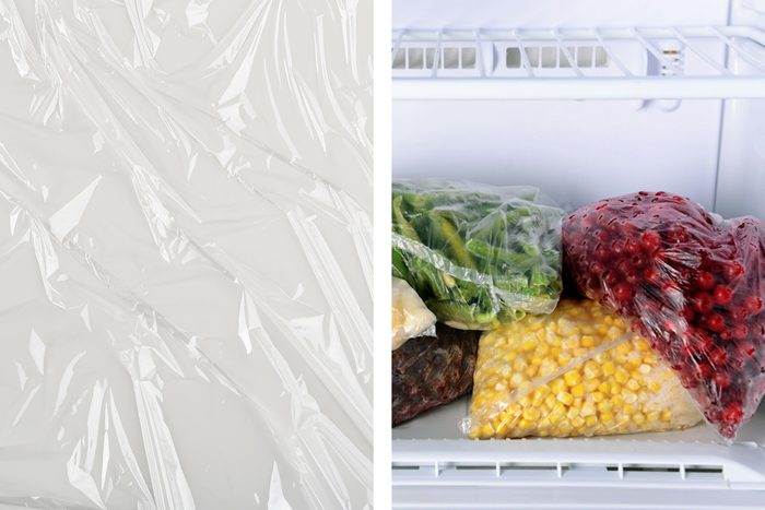 plastic wrap freezer
