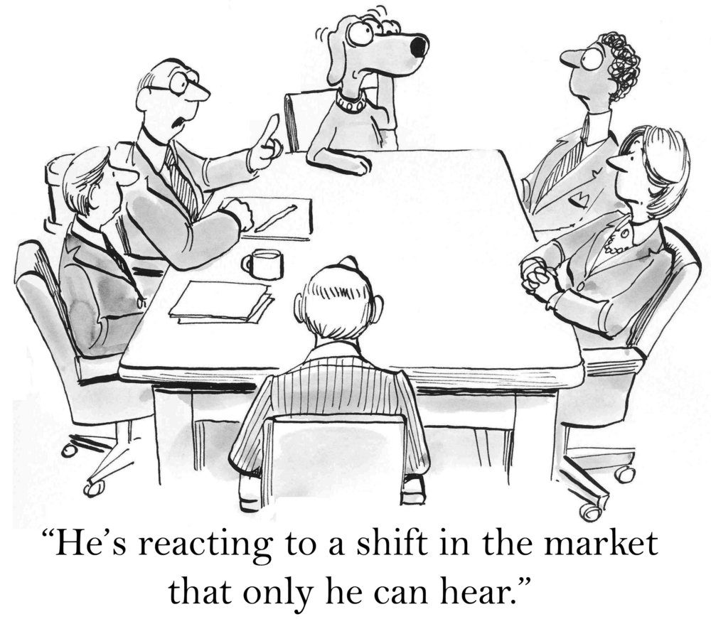 """He's reacting to a shift in the market that only he can hear."""