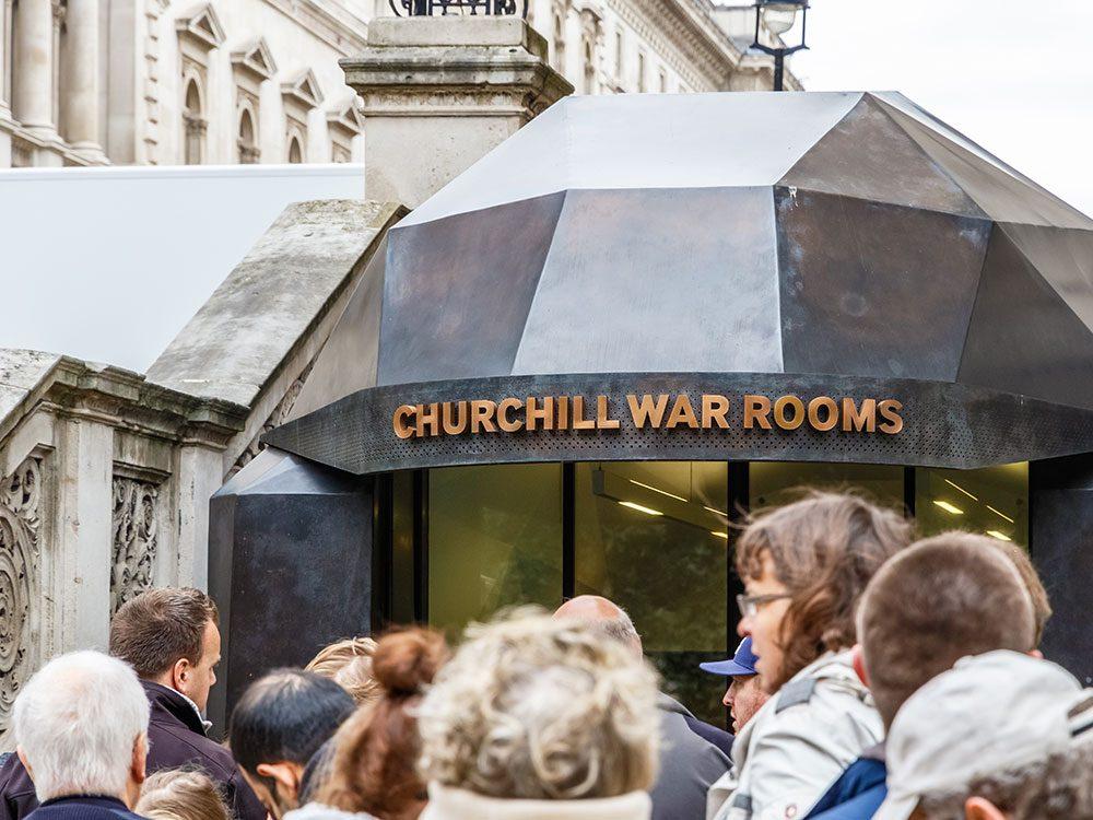 London attractions - Churchill War Rooms