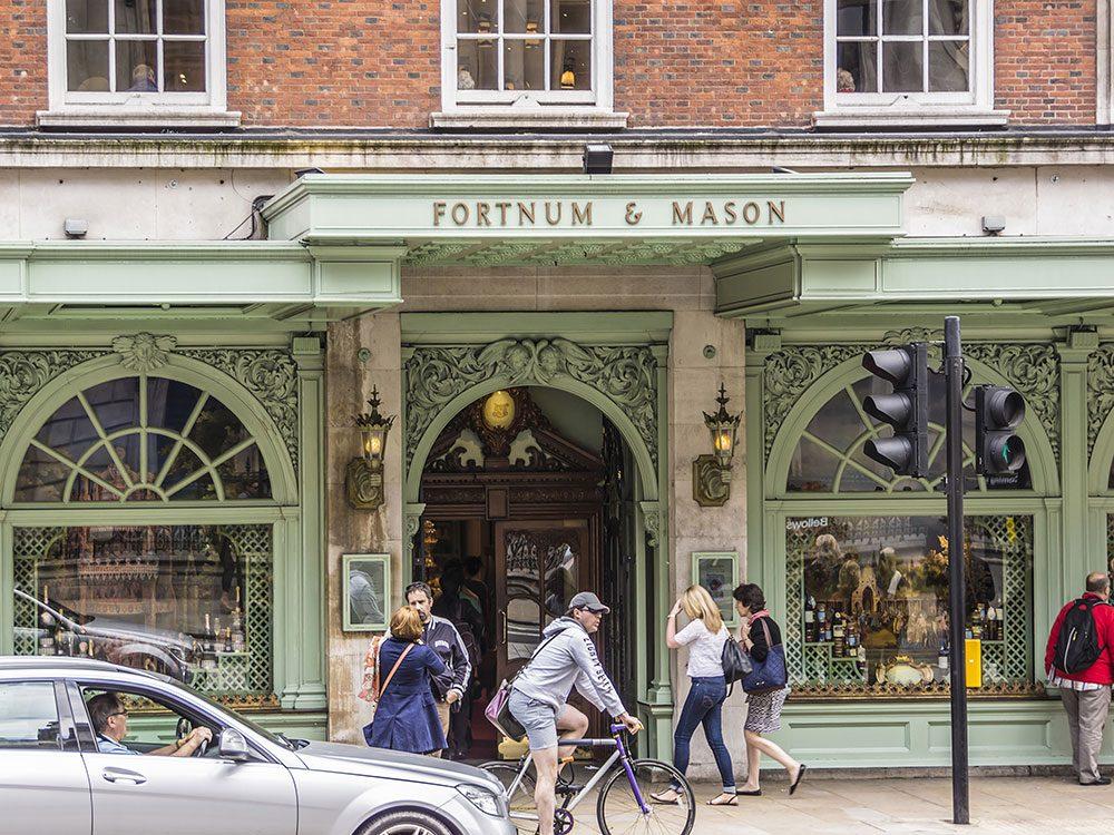 London attractions - Fortnum & Mason