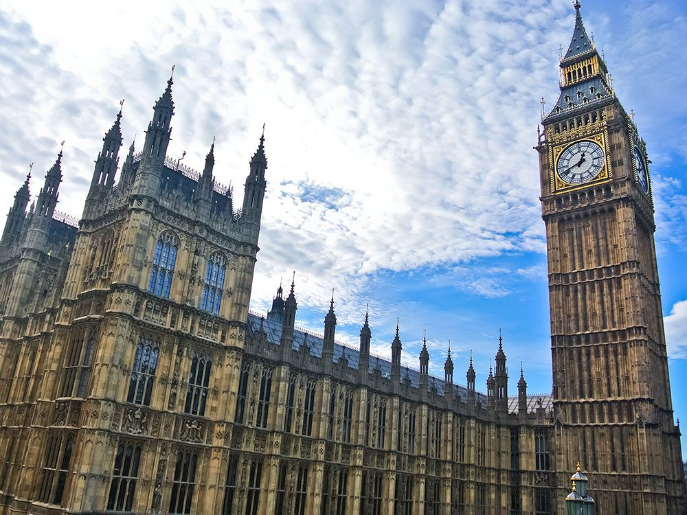 London attractions - Houses of Parliament