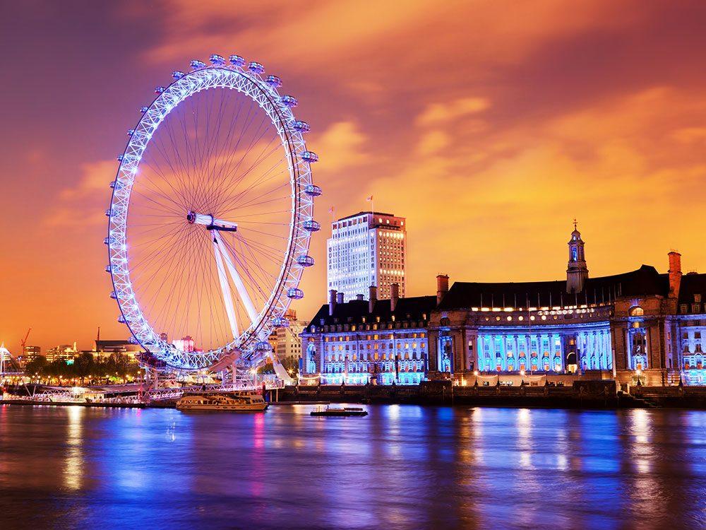 London attractions - London Eye