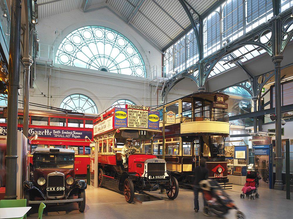 London attractions - London Transport Museum