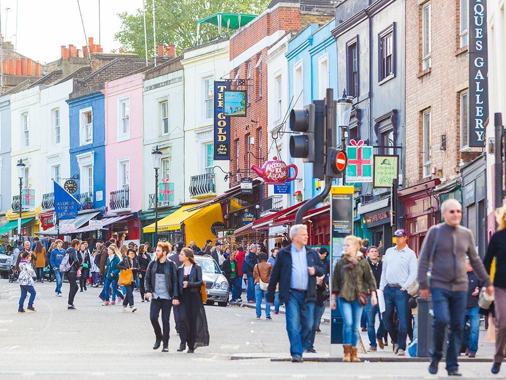 London attractions - Portobello Road Market