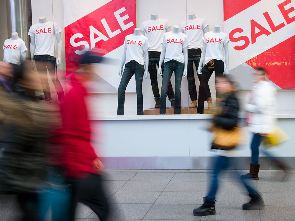 Mindful shopping - beware of sales