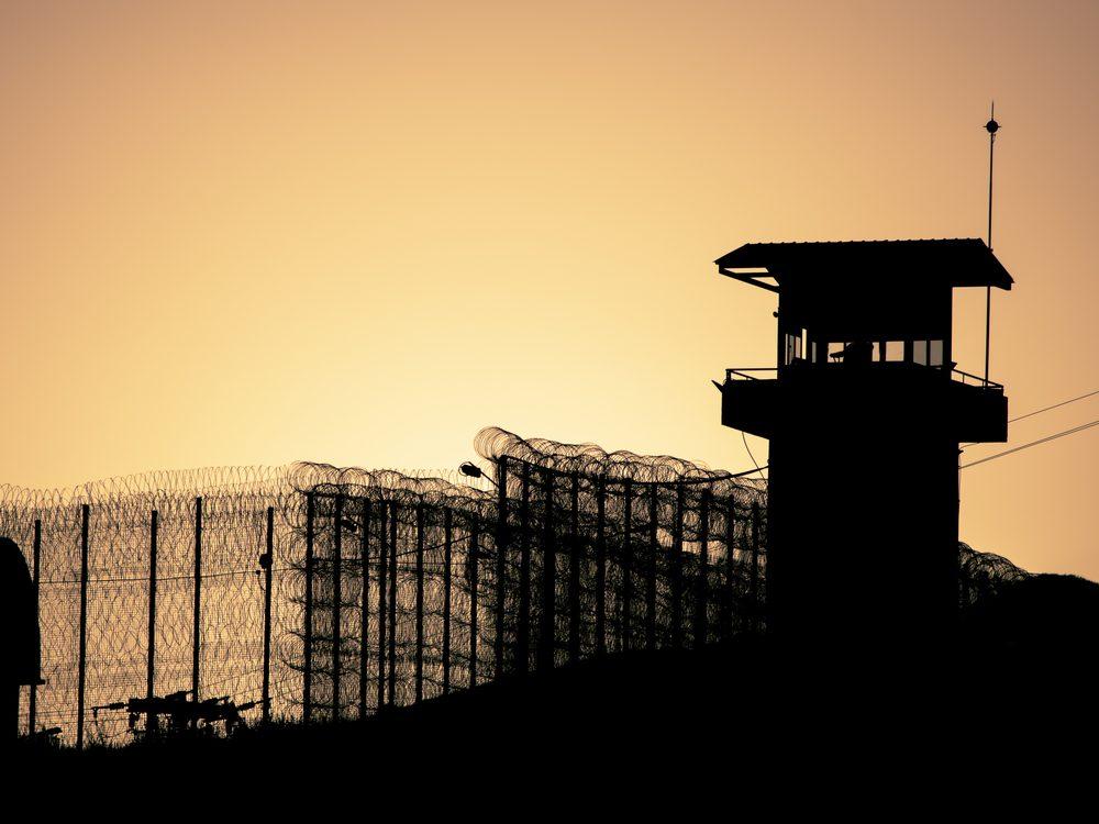 Prison yard silhouette in Crete