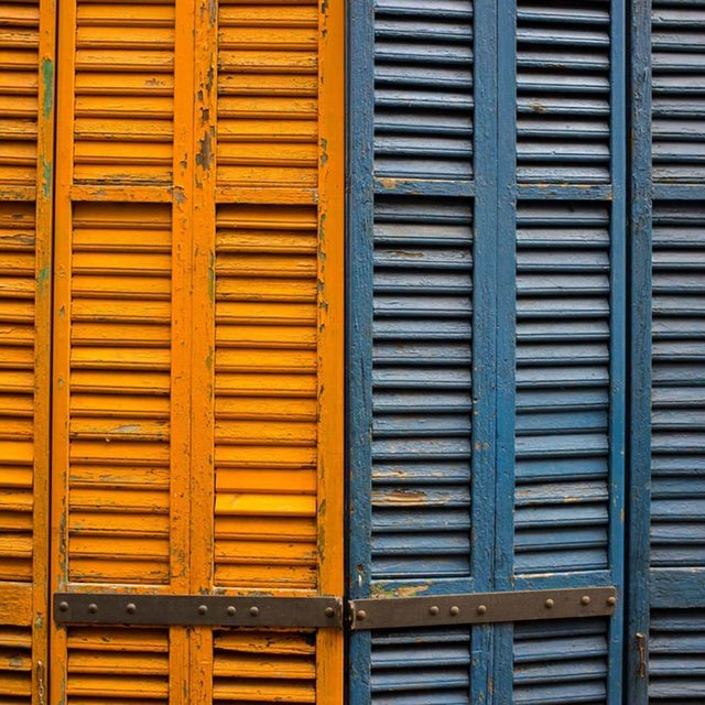 Weathered shutters