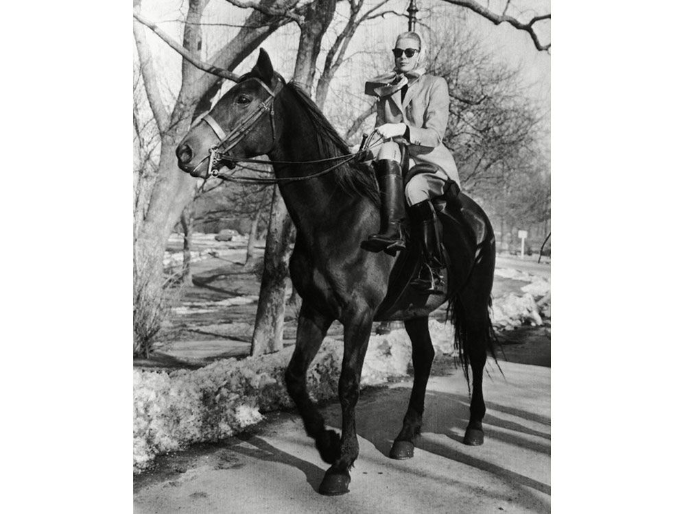 Grace Kelly on a horse