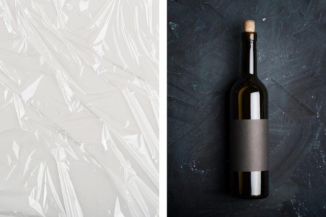 plastic wrap wine