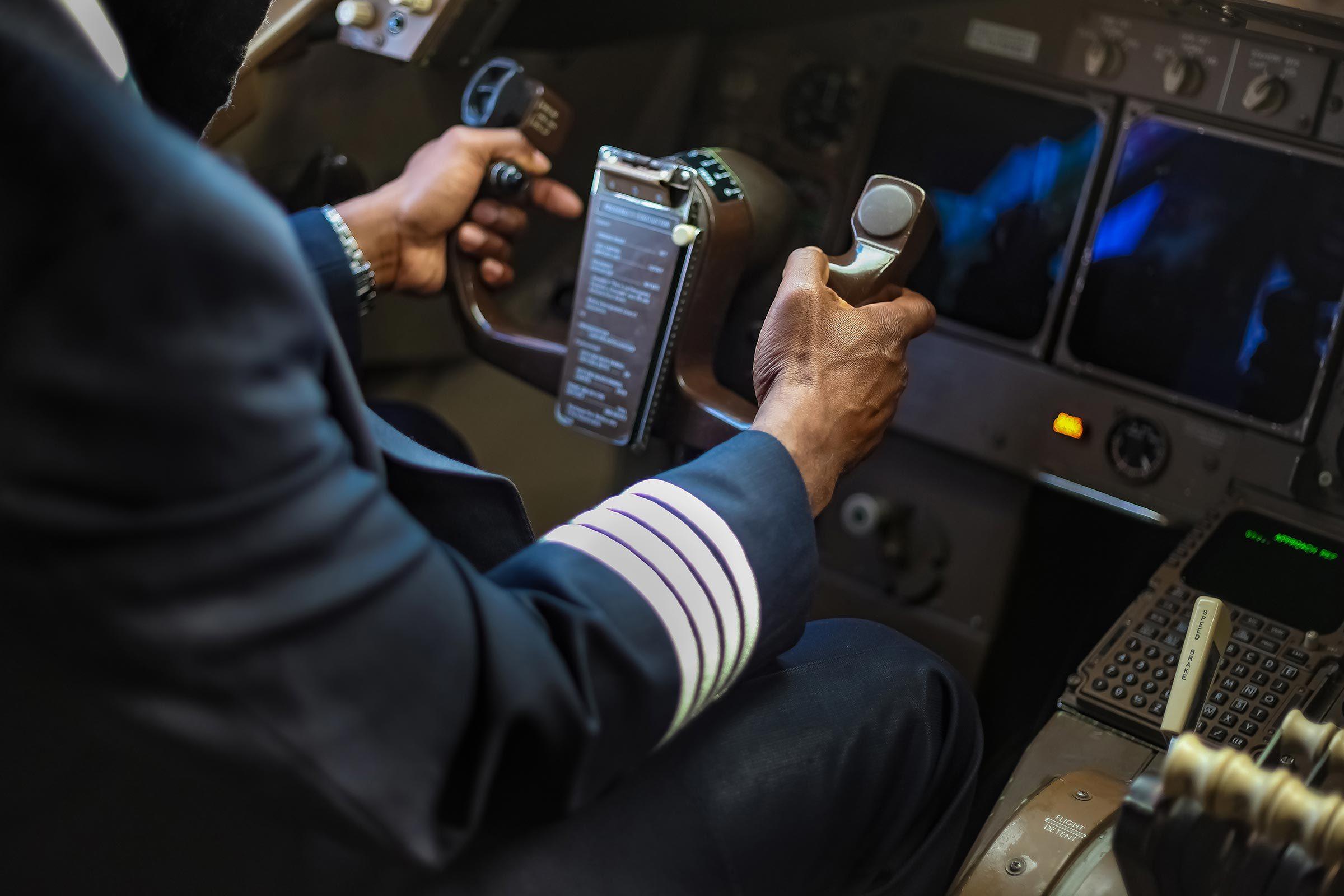 pilot airplane steer