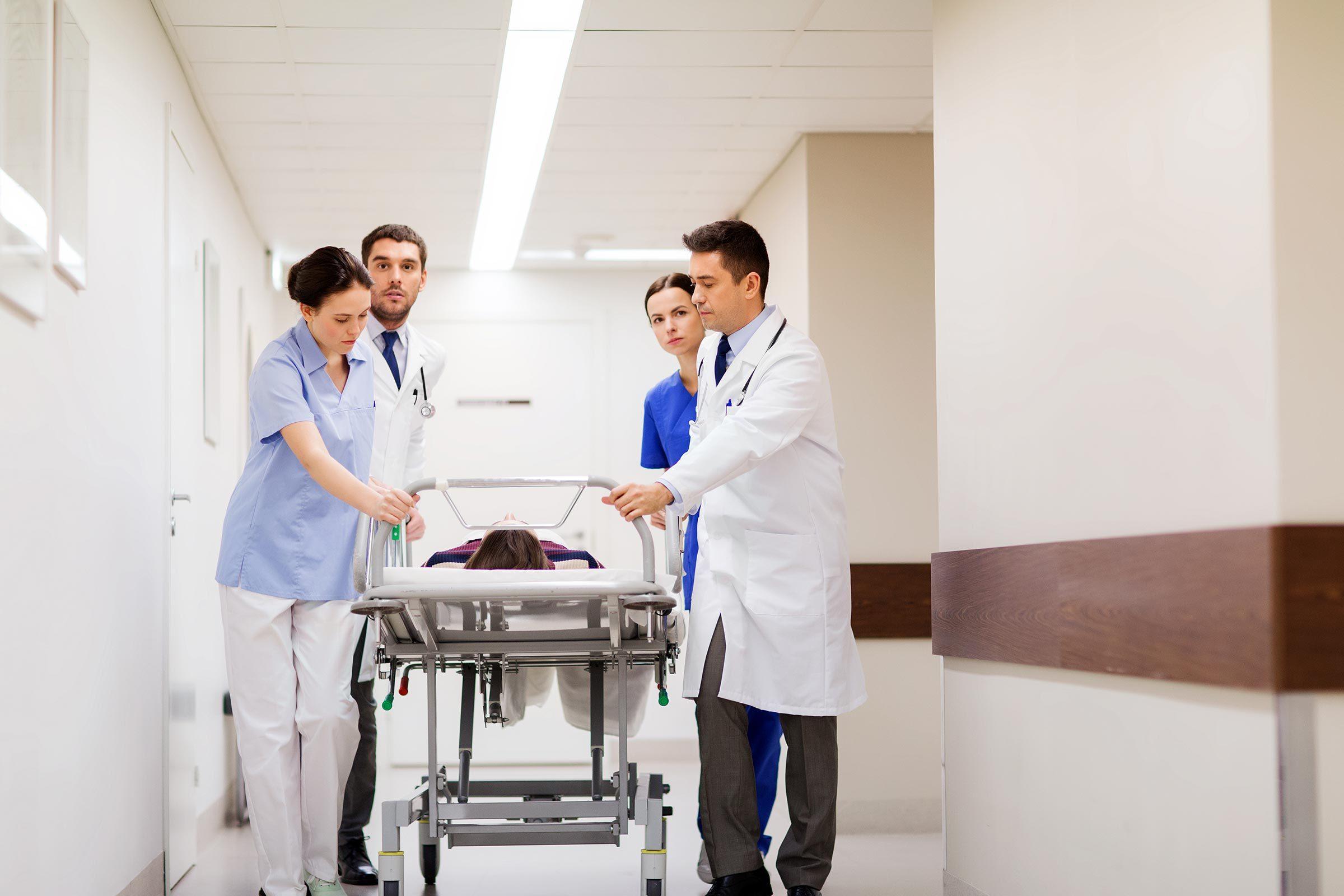 emergency room gurney