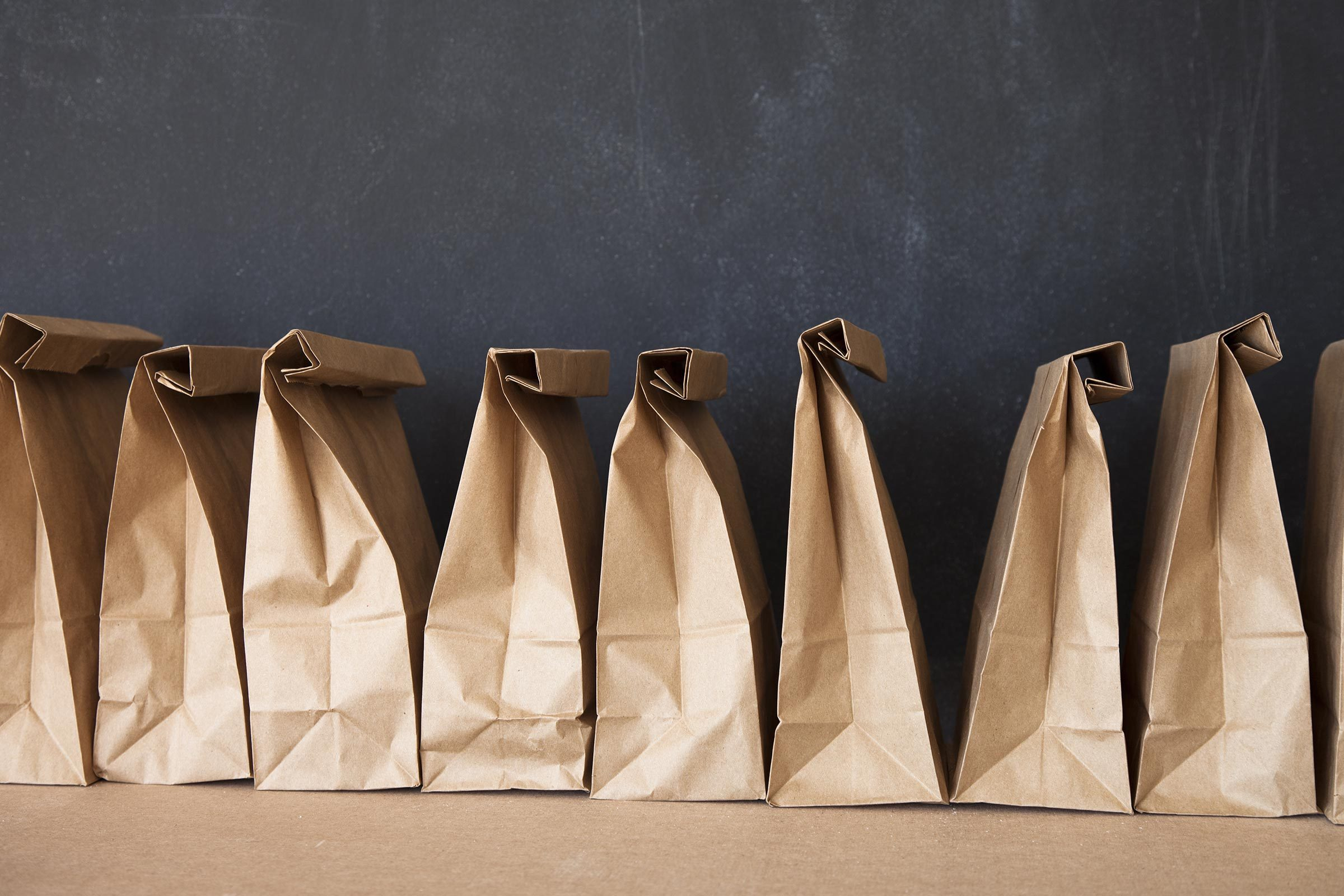 brown paper bags lunch