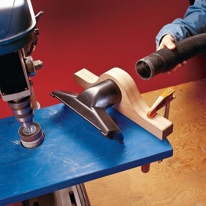 dustless drilling and sanding with vacuum