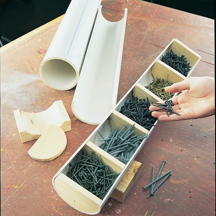 PVC-fastner-trough