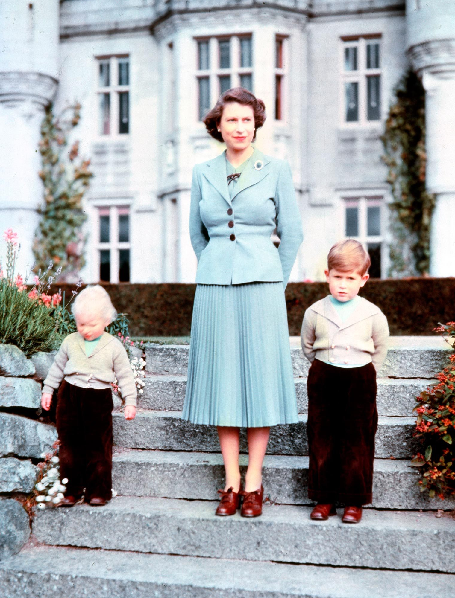 Queen Elizabeth II and her kids