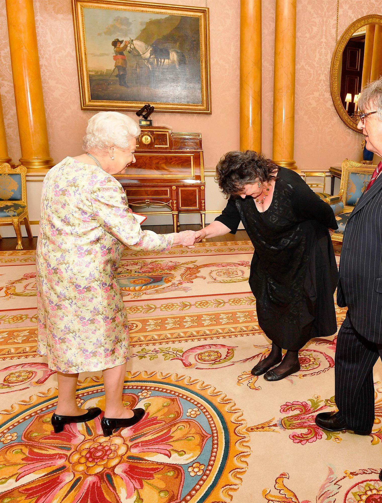 Queen Elizabeth II with poet Carol Ann Duffy