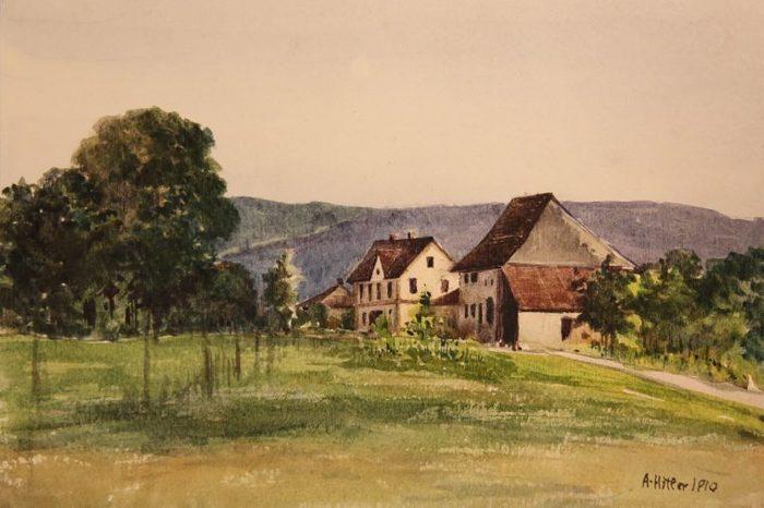 Auction of paintings of Adolf Hitler, Nuremberg, Germany - 08 Apr 2018