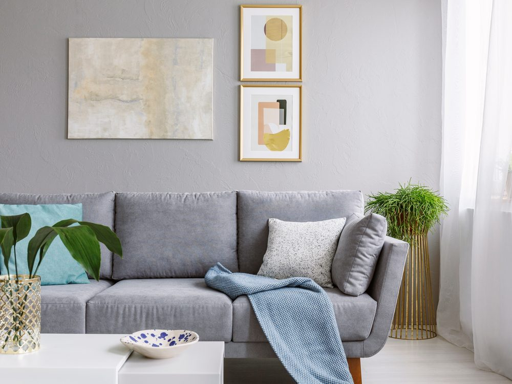 Modern living room with neutral colour