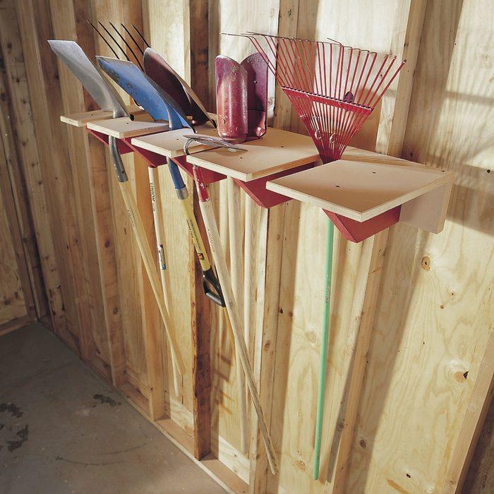 DIY garage tool storage