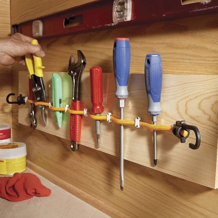 Elastic-cord tool holder bungee cords