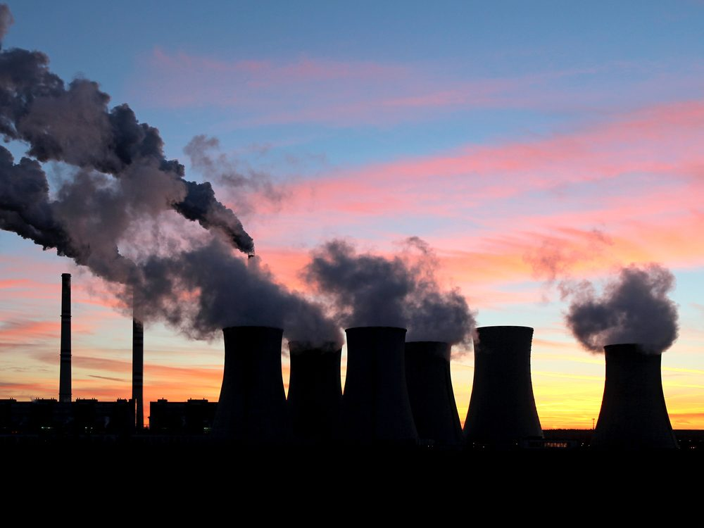 Carbon emissions from power plant