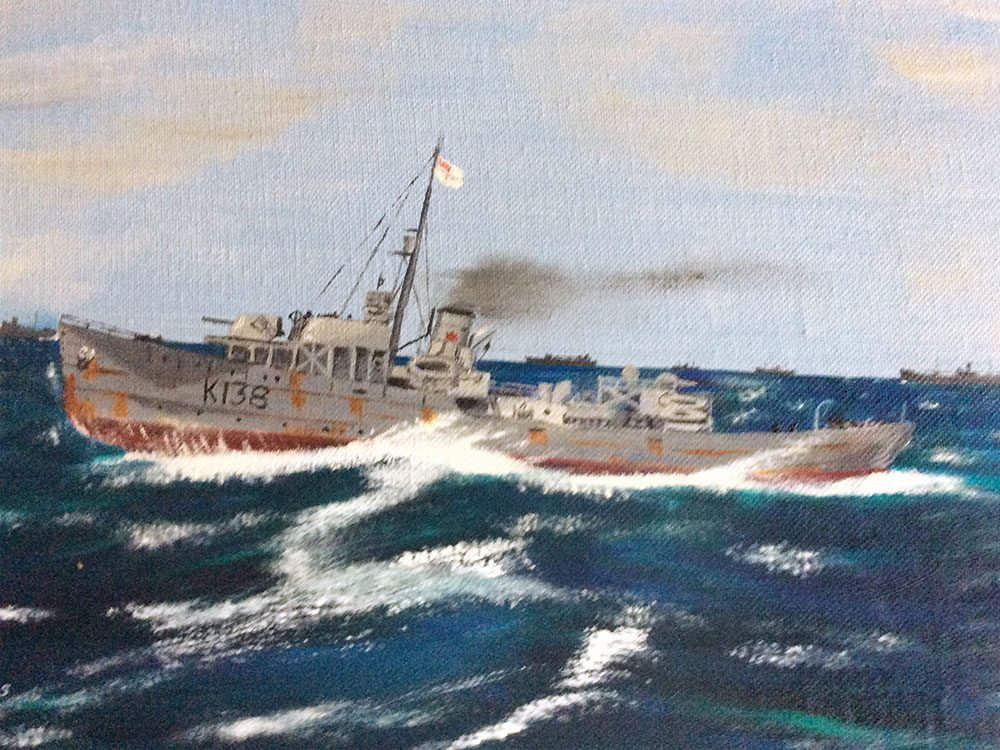 HMCS Barrie painting