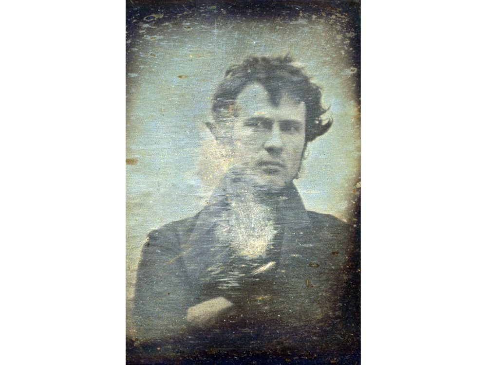 Iconic photos: first selfie ever taken