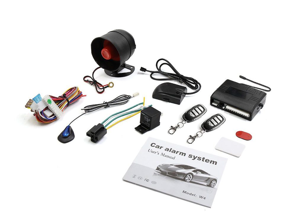 Keyless entry security alarm system