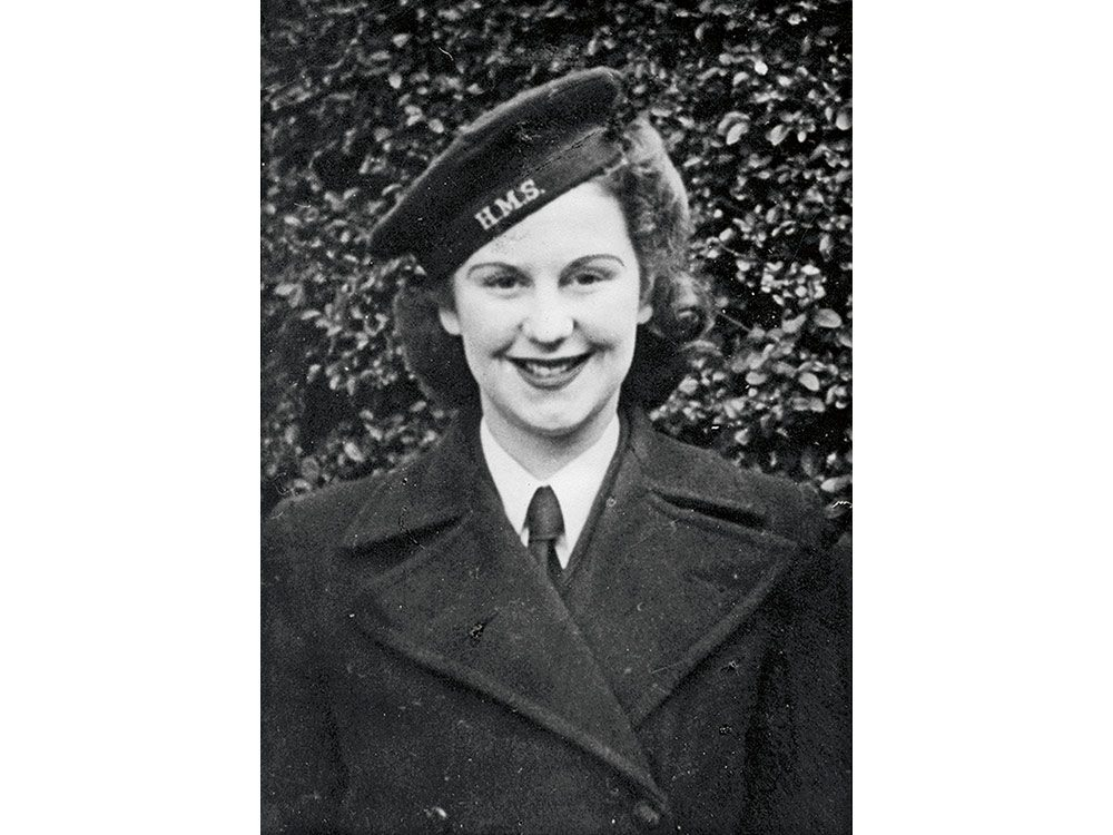 1943. The day Madge Janes joined the Women's Royal Naval Service (Wrens)