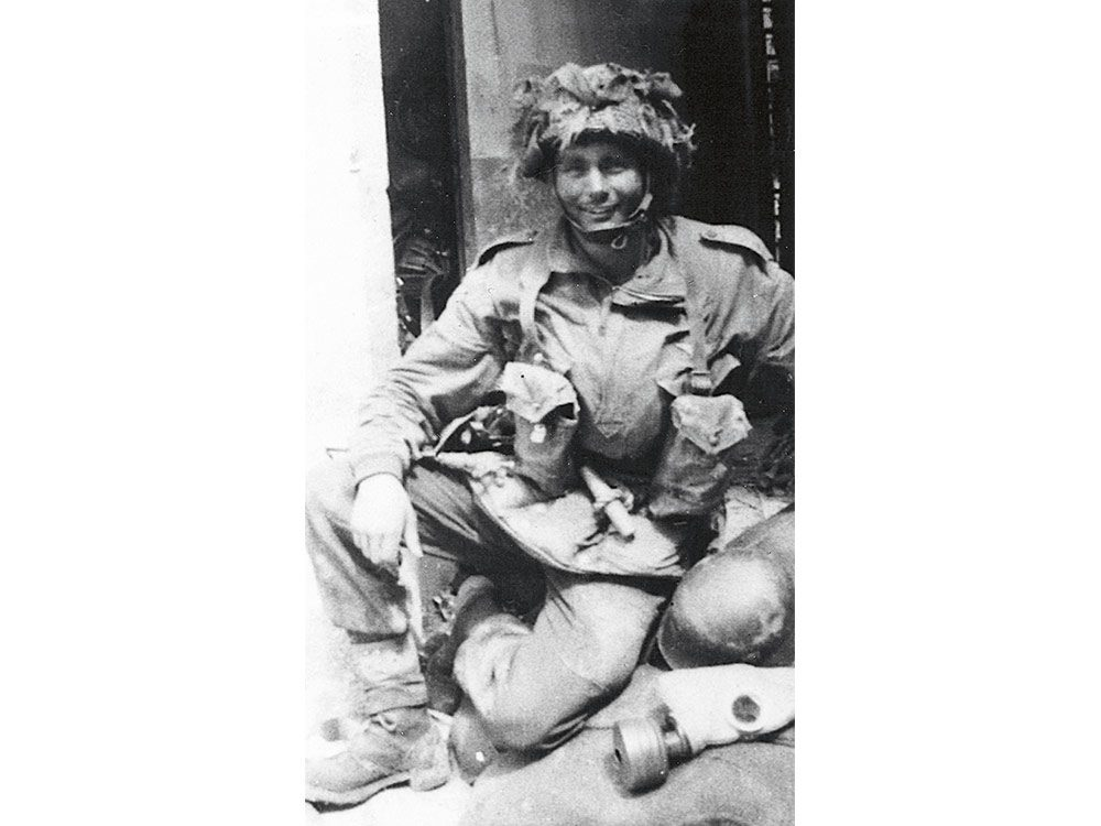 John Ross at approximately 11:00 a.m. on D-Day in Varaville, Normandy