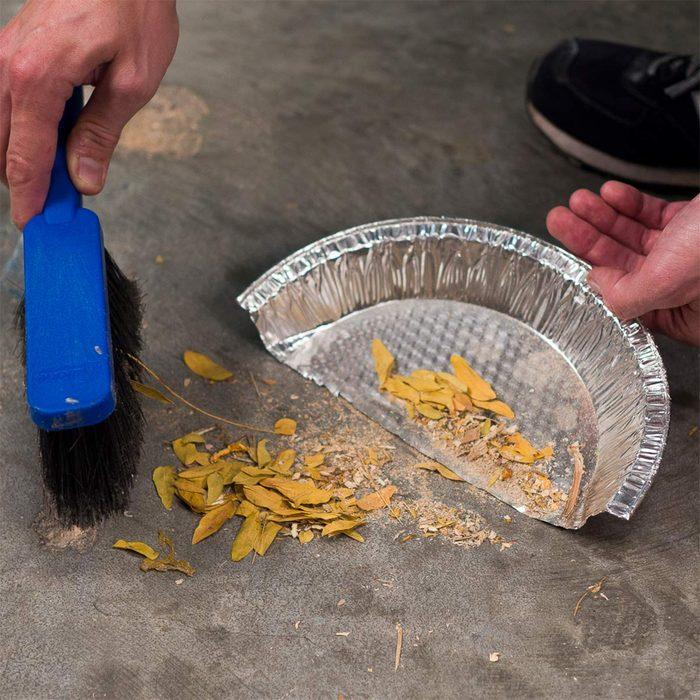 pie plate dust pan