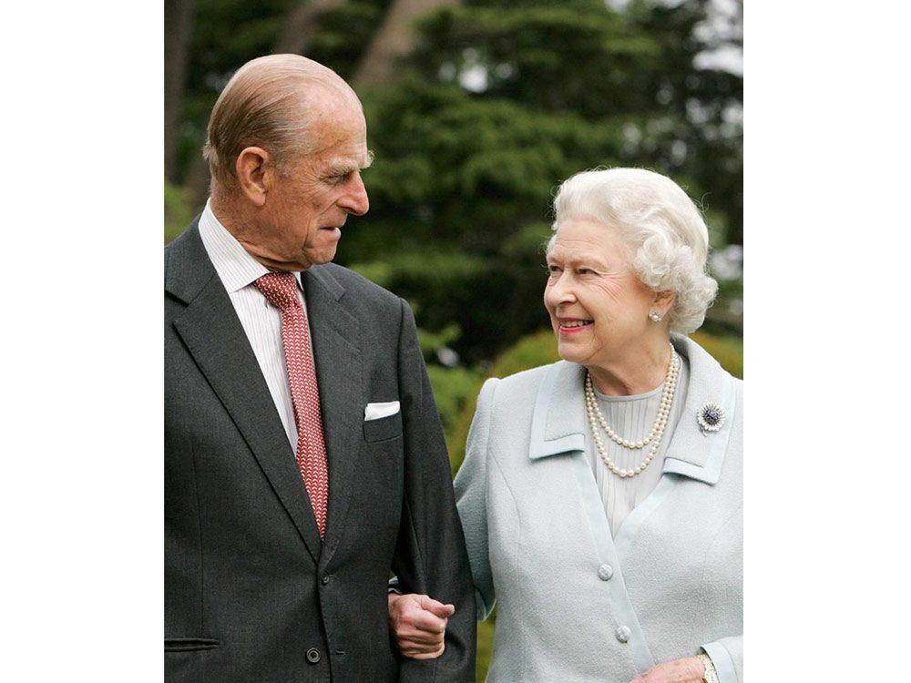 Prince Philip with Queen Elizabeth