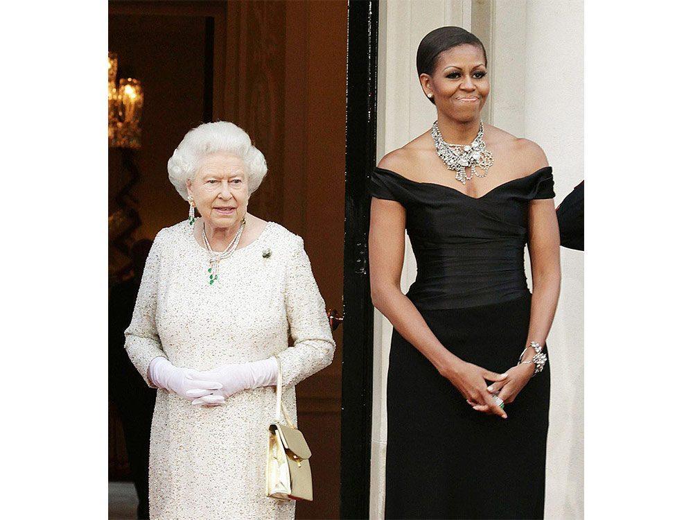 Queen Elizabeth and Michelle Obama