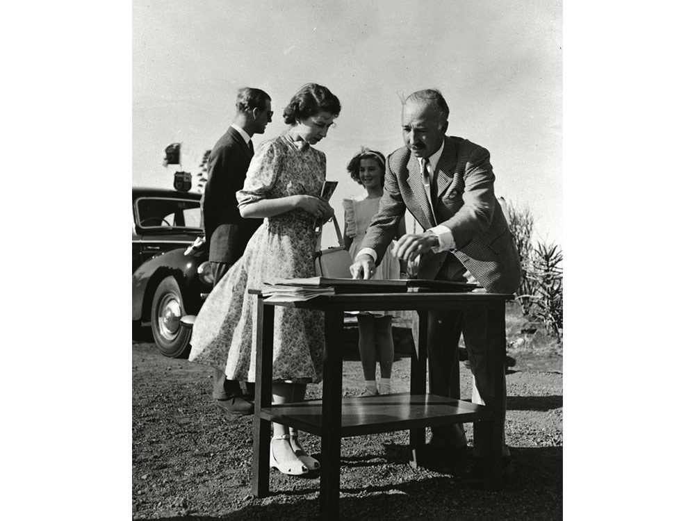 Queen Elizabeth in Nairobi, 1952