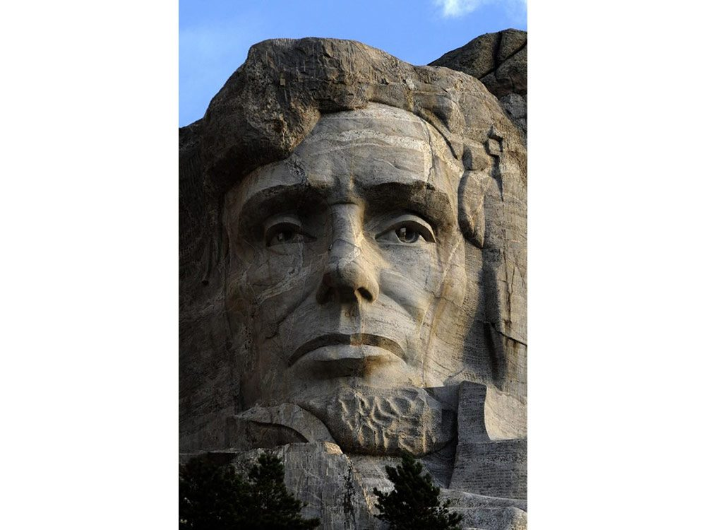 Abraham Lincoln portion of Mount Rushmore