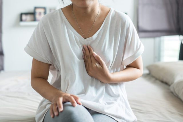 Gastroesophageal reflux disease,Because the esophageal sphincter that separates the esophagus and stomach dysfunction,Asian female having or symptomatic reflux acids