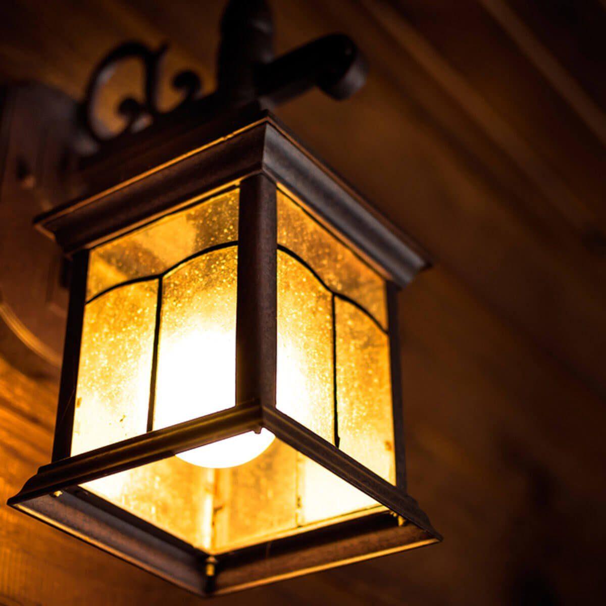 exterior porch light