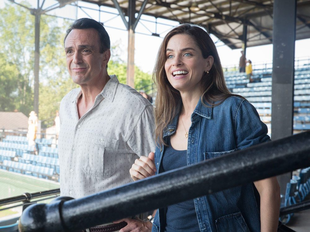 "Hank Azaria and Amanda Peet in ""Brockmire"""